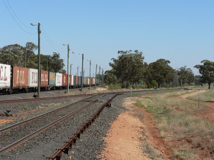 The view looking west, where the Narromine branch turns away from the Broken Hill line.