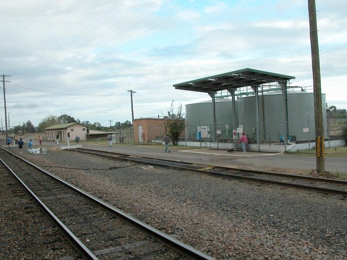 The loco refuelling point at Grafton opposite the platform.