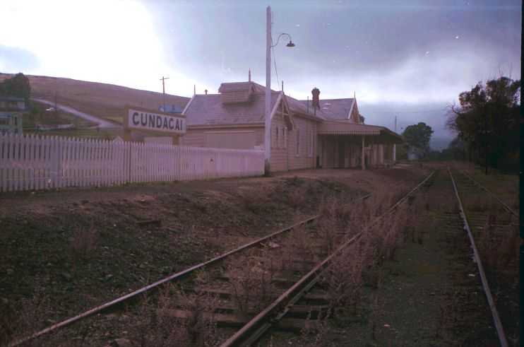Heavy clouds loom over Gundagai station 3 years after the last train ran.