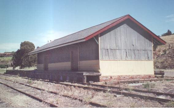 The goods shed, showing some of the knocks it received during its working life.