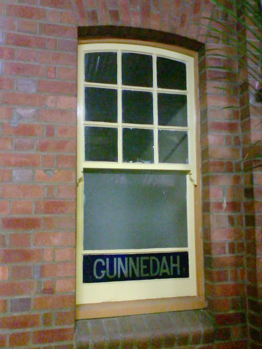 The last remaining original window in the station building.