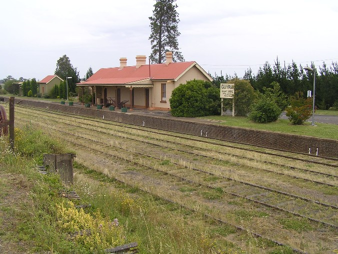 The view looking across at the station, in a southerly direction.
