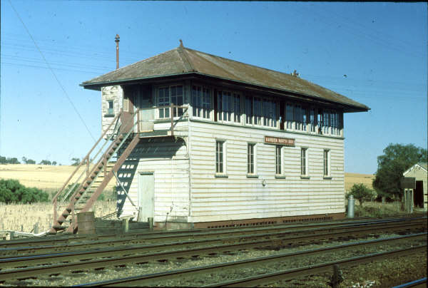 Harden North Signal Box as its southern sister stands majestically as a fine example of NSWGR architecture for the structures of safety.