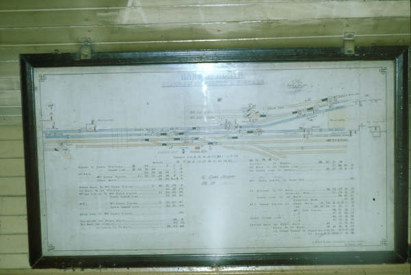 This is the diagram of Harden North Signal Box drawn in 1943.
