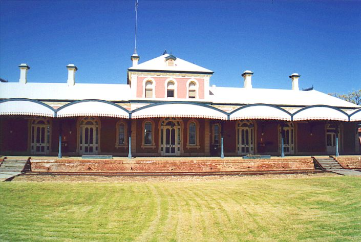The station building at Hay has been preserved, and is in excellent condition.