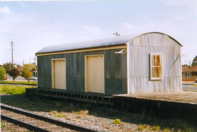 The goods shed, with it unusual curved roof, and goods platform are still present and in good condition.