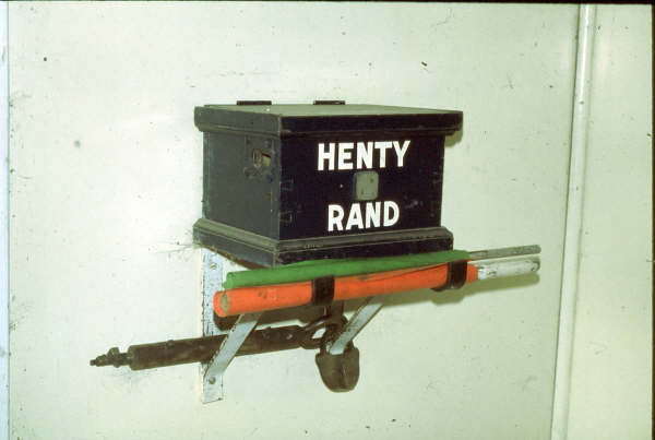 The Henty - Rand staff and ticket box.