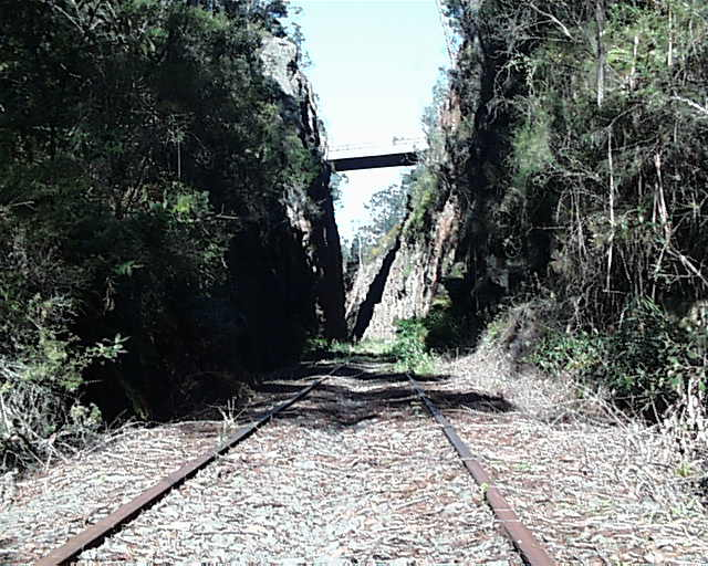 The famous Big Hill Cutting, at one time the deepest railway cutting in NSW.