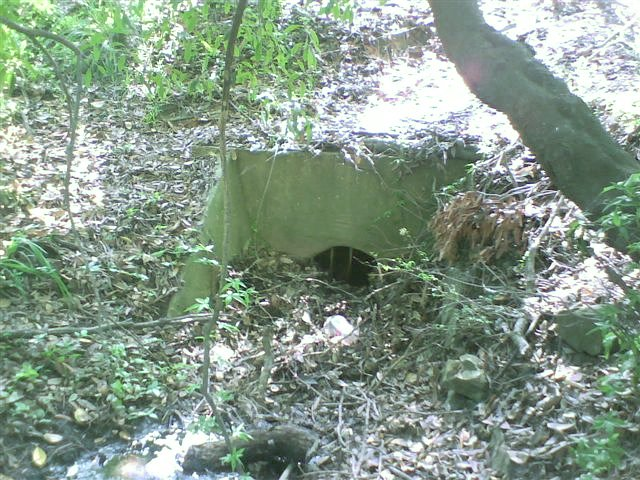 A small culvert still survives under the formation.