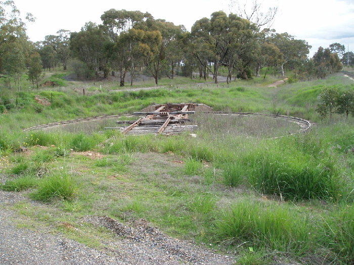 Another view of the disused Turntable, looking south.