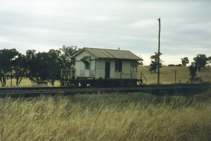 The austere design of Kapooka Signal Box was compensated by it's pleasant surroundings. Kapooka box was in the country and was a well used crossing loop.