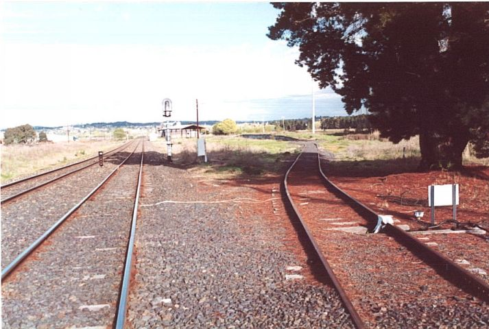 The view looking west of the site of the one-time station of Kelso. Only the grain siding remains to indicate its presence.