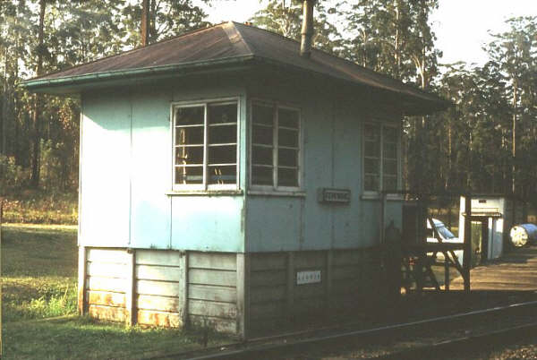 The signal box at Kerewong.