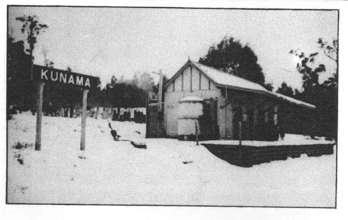 "A photo of Kunama station in 1941, from the book ""Batlow in Pictures"" by Peter and Jenny Cash. Simpson)."