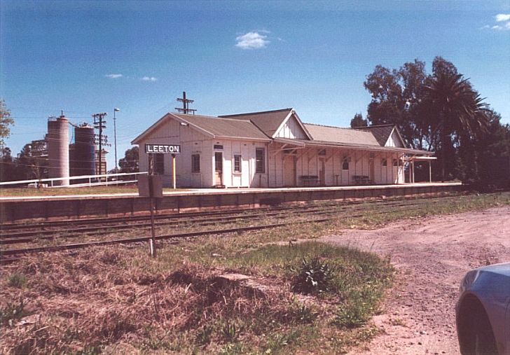 All appears locked up in this shot of Leeton station.