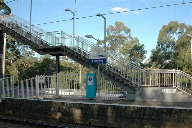 The staircase and entrance on Platform 1, at the Newcastle end.