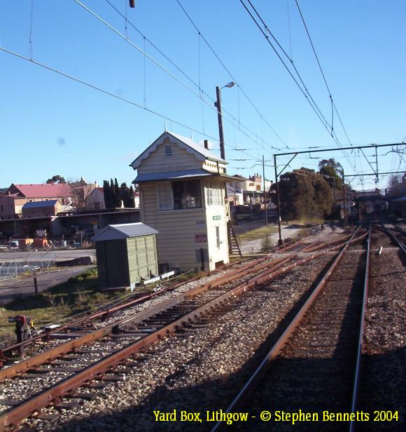 A view of the Yard Box, looking west towards the station.