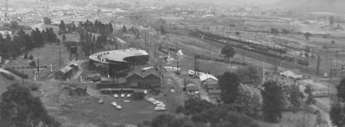Lithgow loco and the eastern end of the yard in 1966.
