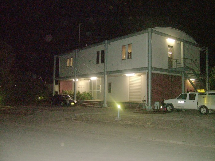 A night picture of Maitland Signal Box taken just before it was closed. It is now controlled from the ARTC building at Broadmeadow.