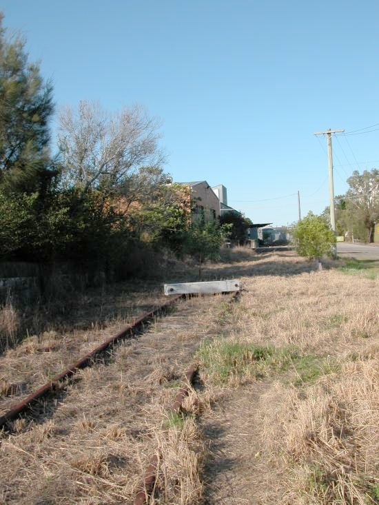 After the Dairy Farmers factory closed a buffer was placed on the line before the track reached the Dairy Farmers Factory.
