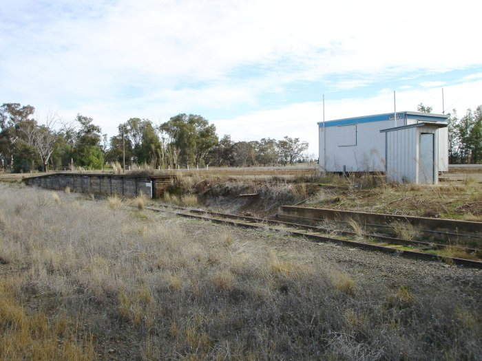 The remains of the platform on the grain siding.