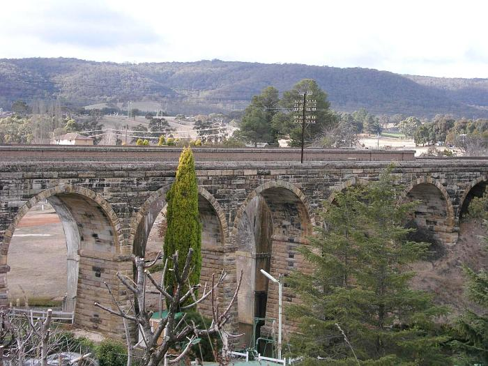 The original stone viaduct with the modern replacement just visible behind it.