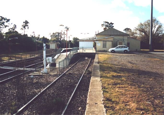The dock platform at the southern end of the down platform.