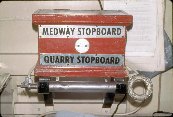Medway Junction's red staff & ticket box for the branch to the Quarry.