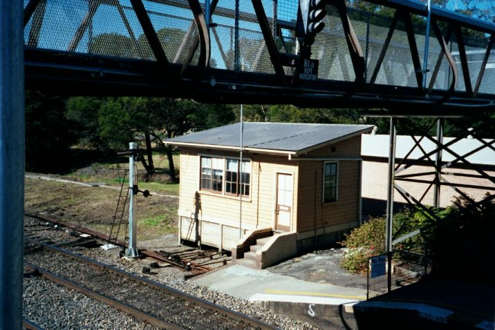 The Mittagong Signal Box is nestled under the footbridge at the northern end of the down platform.
