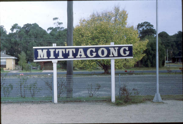 One of the original enamel signs on Mittagong station.