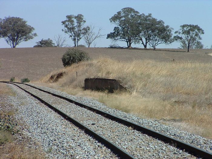 The view looking south of the remains of the goods platform.