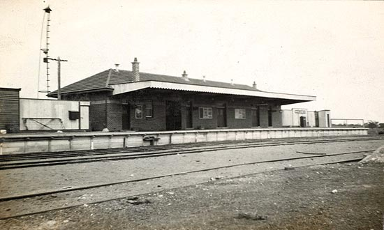 A historic photo of Moulamein Station.