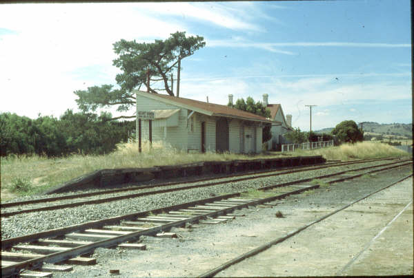 A lonely Mount Horeb station in 1980.