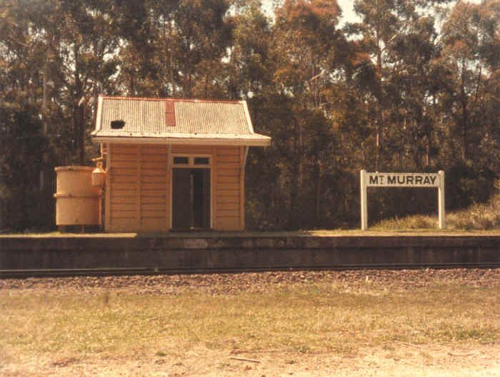 Mount Murray station when it was still in use.  Note that at this time the line was only single-track.