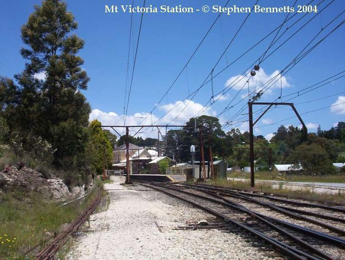 The view from near the entrance to the Up yard west of Mount Victoria station.