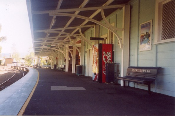 The view looking along the platform.