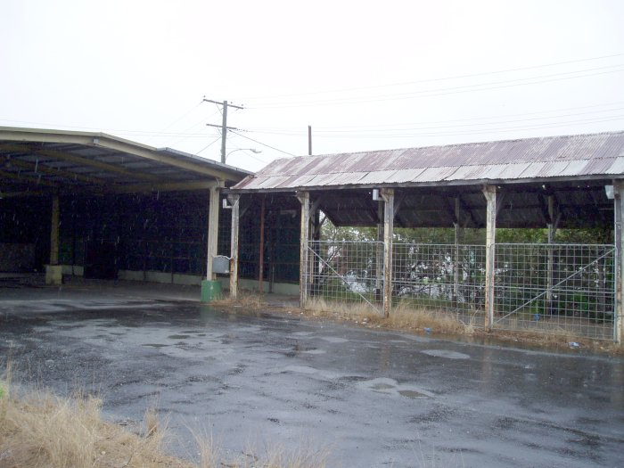 Some abandoned goods sheds.