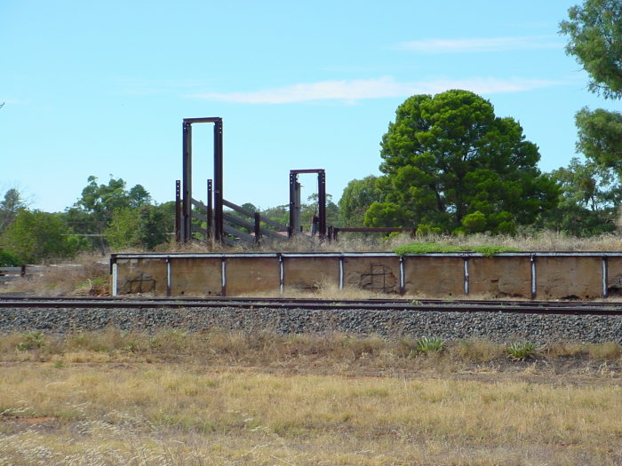 The remains of the cattle loading platform.