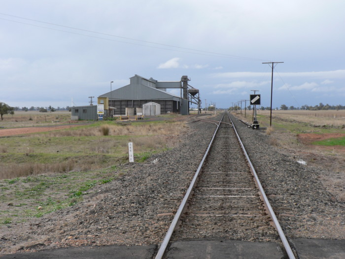 The view looking north. The station was located on the right of the line, in the middle distance.