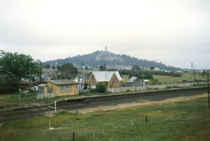 Goulburn North station sits in a picturesque setting on a cool autumn day in 1979.