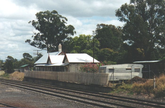 The old station at Casino was on the branch line to Murwillumbah and is currently being used as a residence in this view looking back to the junction with the main line to Brisbane.
