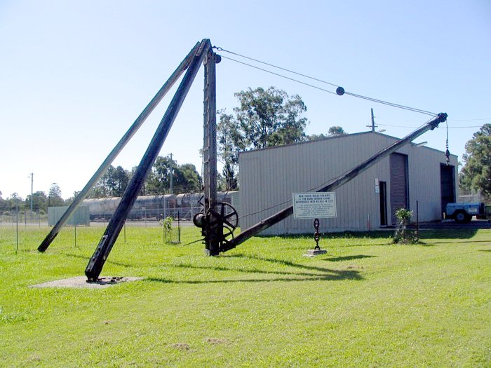 This 5 ton derrick crane was used on the construction of the line from Casino to Bonalbo.  It is now located at the Old Casino railway station.