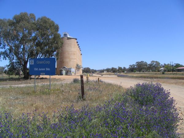 The entrance to the grain handling facilities.