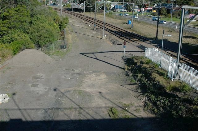 The location of the refuge siding which bypassed the up platform, looking towards Sydney.