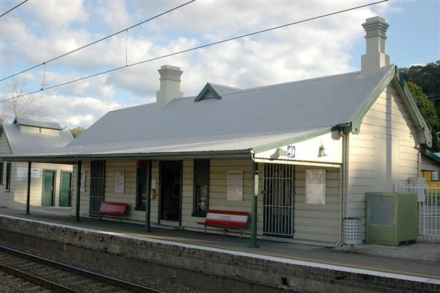 The main station building on platform 2.