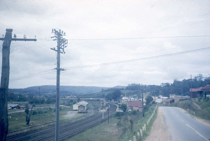 A historic photo of Ourimbah, looking south towards Sydney.
