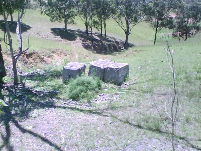 Some concrete blocks left over from some earlier structures.