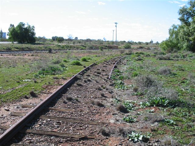 Peak Junction on The Peak Branch line. The Cobar Branch line is in the background.