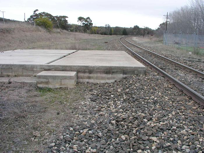 The view looking south towards Wallerawang from the one-time station location.