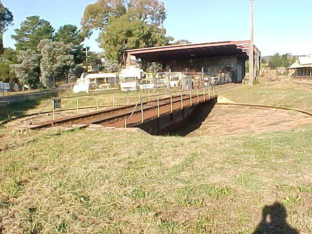 The turntable in the yard at Queanbeyan.